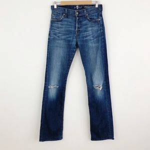 7 For All Mankind Standard Distressed Jeans